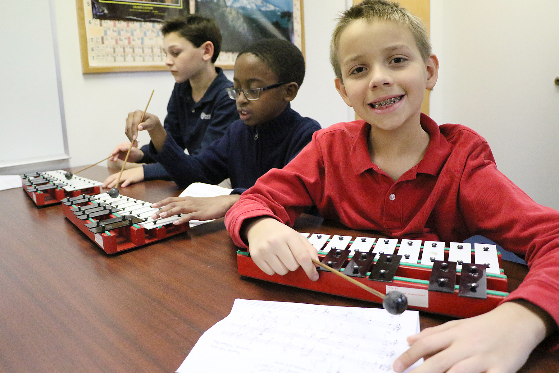 Music in the lower school at Dominion Christian School, a K-12 classical Christian school, in Northern Virginia.