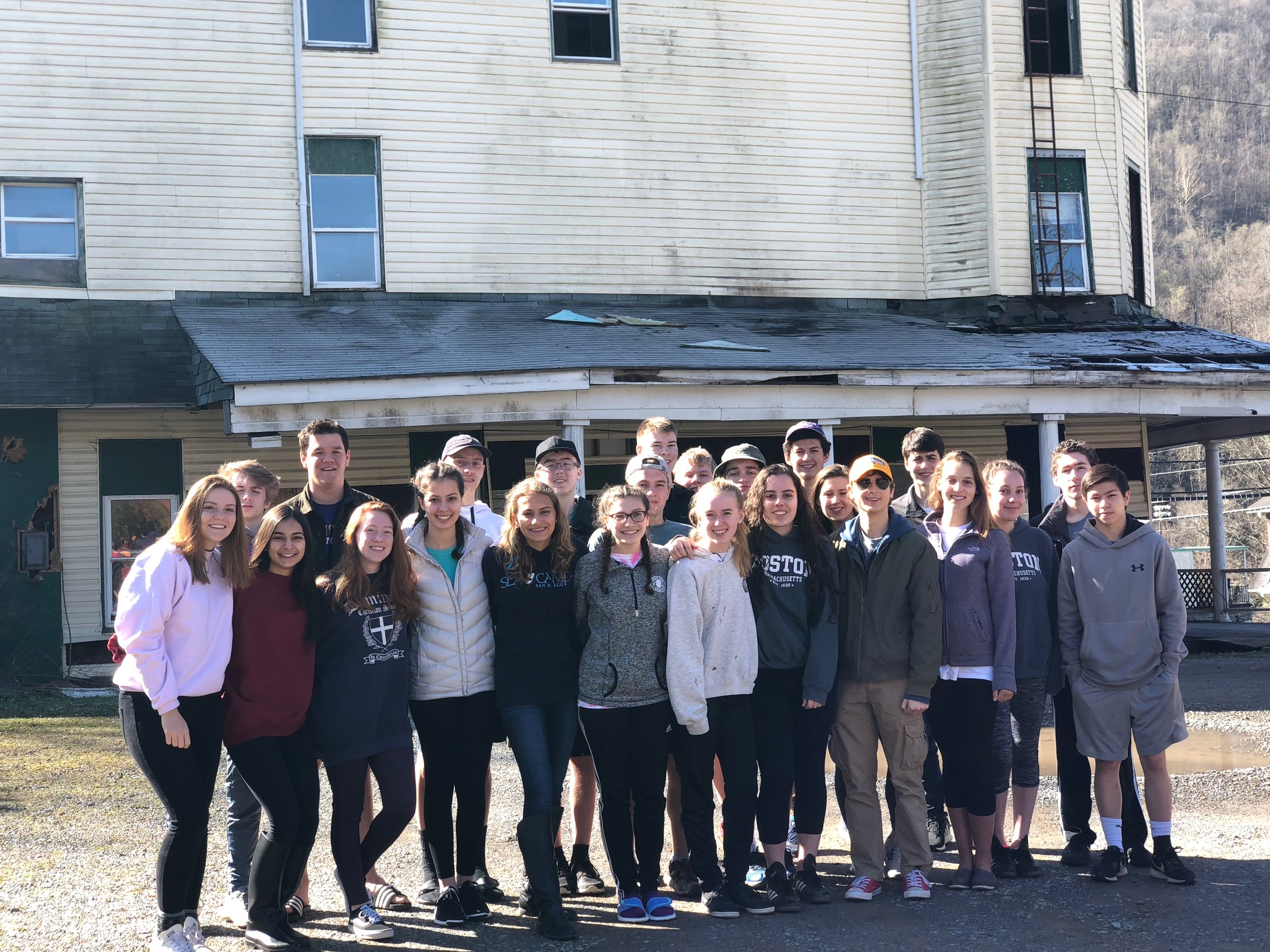 Upper school students serve the community at Dominion Christian School, a K-12 classical Christian school, with campuses in Oakton, Reston and Potomac Falls, Virginia.